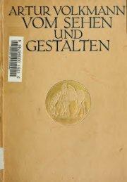 Vom Sehen und Gestalten; ein Beitrag zur Geschichte der jüngsten ...