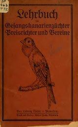 Lehrbuch für Gesangskanarienzüchter ... - El Canario Roller