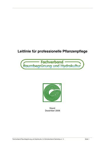 Leitlinie für professionelle Pflanzenpflege-Stand-Dezember-2008