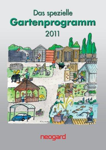 Gartenprogramm - Katalog (inklusive Gartenhäuser) - Gärtner ...
