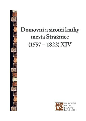 Domovní a sirotčí knihy města Strážnice - Národní ústav lidové kultury