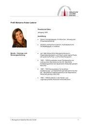 Profil Marianne Huber-Lederer - MAM