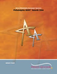 THE ADDY 2008 WINNERS BOOK (Requires ... - Philly Ad Club