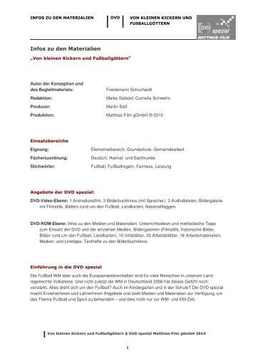 Infos zu den Materialien - Matthias-Film