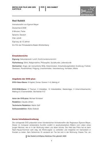 RedRabbit_Filminfos 1 - Matthias-Film