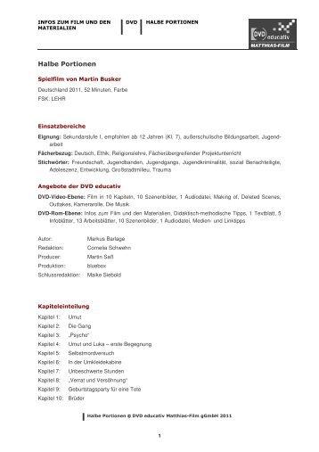 Halbe Portionen - Matthias-Film