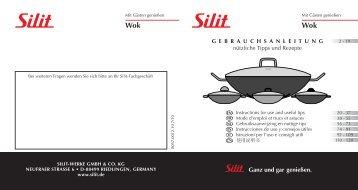 Gebrauchsanleitung Wok - Silit