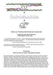 Skript zum Praktikumsteil Molekulare Systematik Einleitung: Rom ist ...