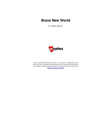 Brave New World Chapter 11 Questions and Answers - eNotes