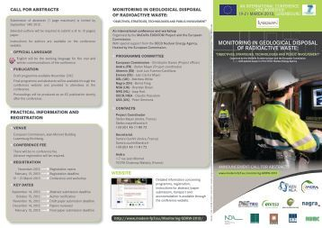 Monitoring in Geological Disposal of Radioactive Waste: flyer
