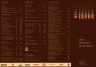 cafe cocktails leckereien - Cafe Lecca