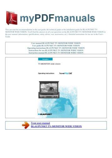 user manual blaupunkt las vegas dj ag my pdf manuals rh yumpu com Blaupunkt CRT TV Blaupunkt TV From 80s