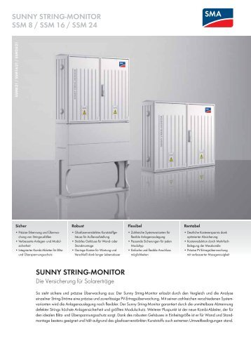 SUNNY STRING-MONITOR - SMA Solar Technology AG