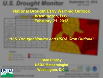 U.S. Drought Monitor and Crop Outlook - US Drought Portal