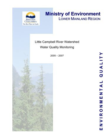 Little Campbell River Watershed Water Quality Monitoring