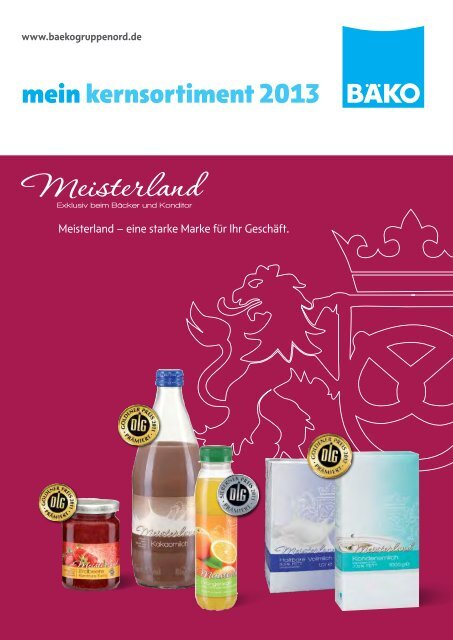 mein kernsortiment 2013 - BÄKO Gruppe Nord