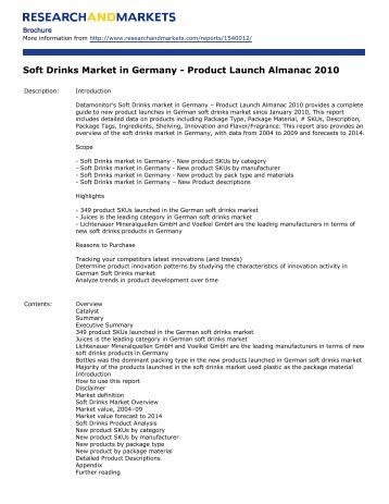 Soft Drinks Market in Germany - Research and Markets