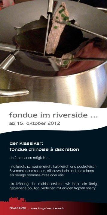 fondue im riverside ...