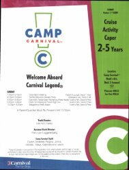 Camp Carnival Ages 2-5 Packet - Travels Unlimited