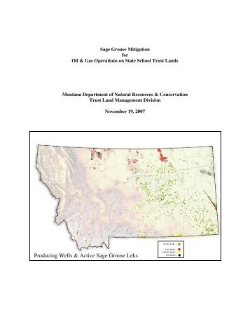 Sage Grouse Mitigation for Oil & Gas Operations - Montana Board of ...
