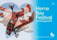 Download the programme as a .pdf (6mb) - Herne Bay Festival