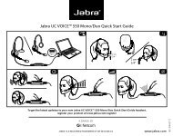 "Jabra Uc voiceâ""¢ 550 mono/duo Quick start guide - Sipgate"