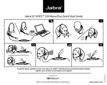 "Jabra Uc voiceâ""¢ 550 mono/duo Quick start guide - Sipgate"