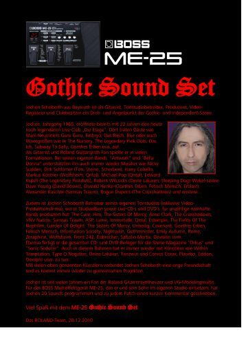 Gothic Sound Set - Sounds der Helden