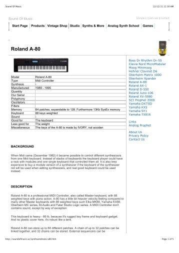 Roland A-80.pdf - Sound Of Music