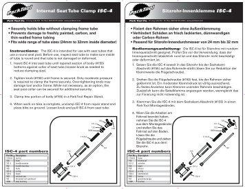 Sitzrohr-Innenklemme ISC-4 Internal Seat Tube Clamp ... - SJS Cycles