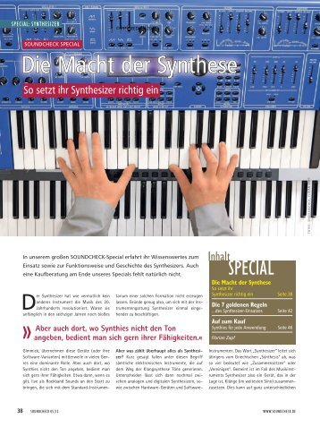 So setzt ihr Synthesizer richtig ein - MUSIC STORE professional