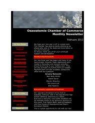 February 2013 - Osawatomie Chamber of Commerce