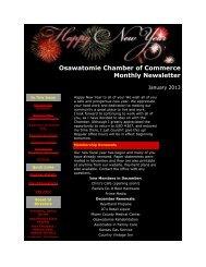 January 2013 - Osawatomie Chamber of Commerce