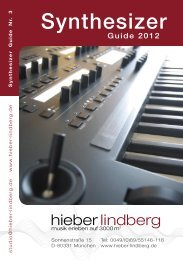 Synthesizer Guide 2012 - Musikhaus Hieber Lindberg