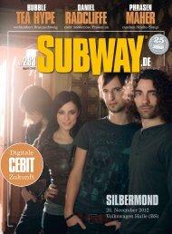 Aktuelle Ausgabe SUBWAY Stadtmagazin Braunschweig als PDF ...