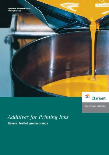 Additives for Printing Inks