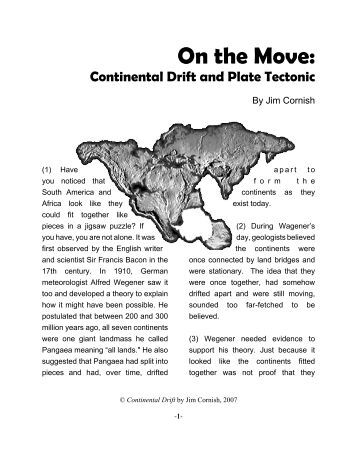Printables Continental Drift Worksheet evidence for continental drift worksheet on the move and plate tectonic