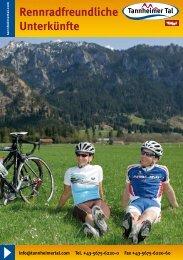 Rennradfreundliche Betriebe im Tannheimertal (application/pdf) - Tirol