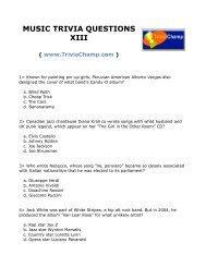 MUSIC QUIZ QUESTIONS - Trivia Champ