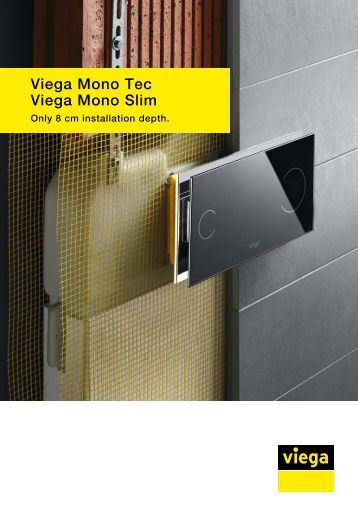 Viega Mono Tec and Viega Mono Slim