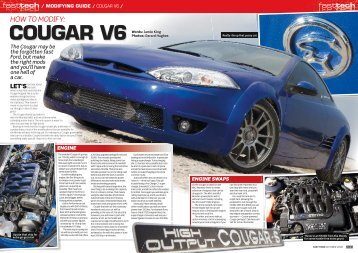 Ford Cougar V6 Modifying Guide