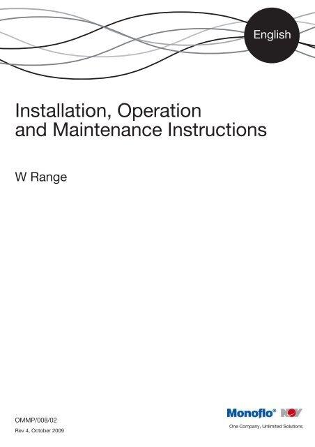 Installation, Operation &