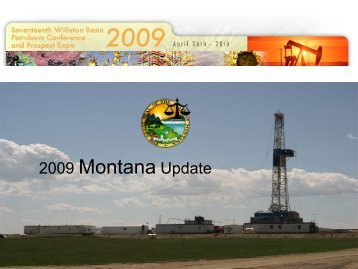 2008 Oil and Gas Update for Montana
