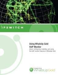 Using WhatsUp Gold VoIP Monitor - Network Management Software
