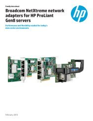 Broadcom NetXtreme network adapters for HP ProLiant Gen8 ...