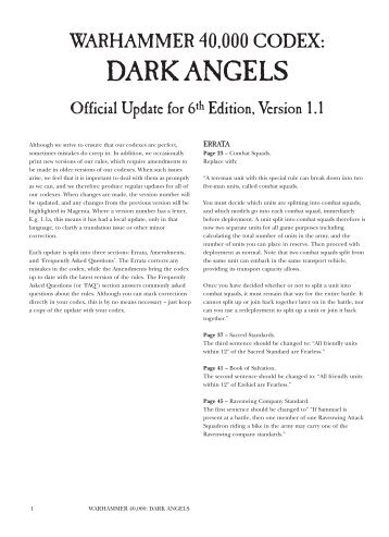 warhammer blood angels codex pdf