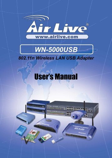 AirLive WN-5000USB User's Manual