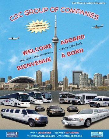 CDC OUP OF COMPANIES - Airport Shuttle Bus Service Toronto