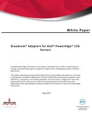 Broadcom® Adapters for Dell® PowerEdge® 12G Servers