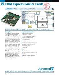 COM Express Carrier Cards - Acal Technology
